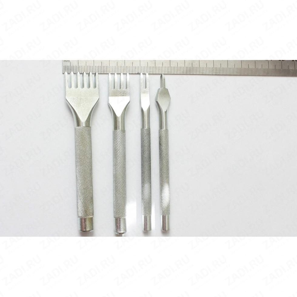 Набор пробойников строчных ромбовидных  4 шт. (4мм х 2,2мм) арт. ТК12М8