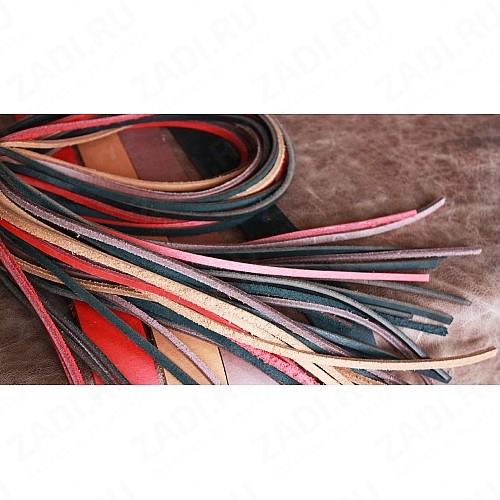 Шнур кожаный 125-150см (квадратный )