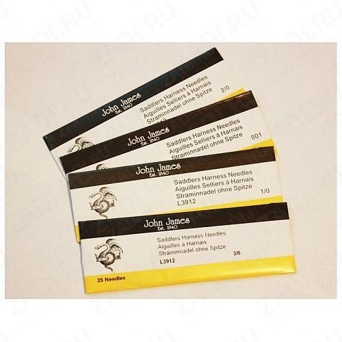 Упаковка игл для кожи John James Saddlers Harness ( 25шт)