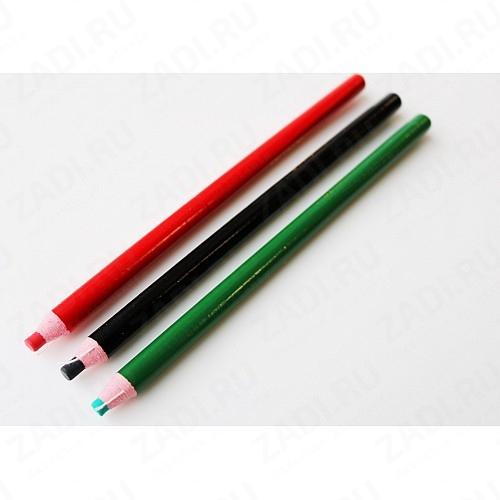 Самозатачивающийся исчезающий карандаш (зелёный, красный, чёрный) арт.0114