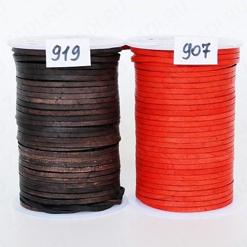 Шнур кожаный плоский (919,907) 3мм х 1.5мм