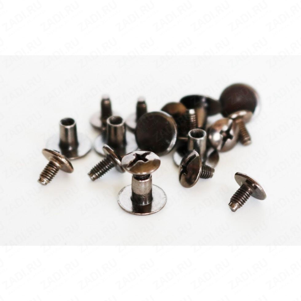 Заклёпка резьбовая, кобурная  (цвета: никель, латунь,антик) 4мм 1шт IKF65