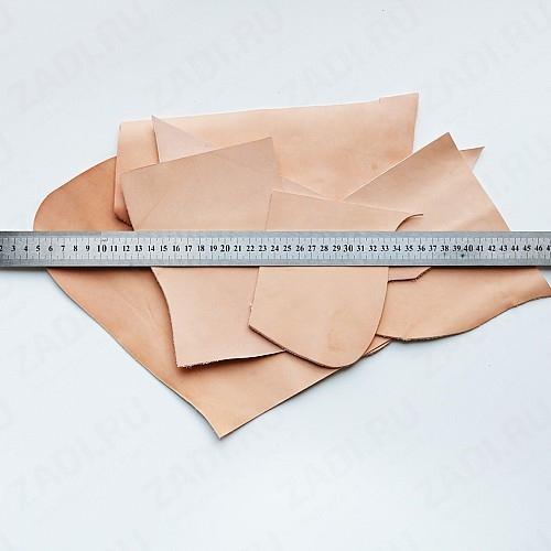 Набор  кожи раст. дубления 1-1.2мм  для браслетов и брелоков 250гр. LET972