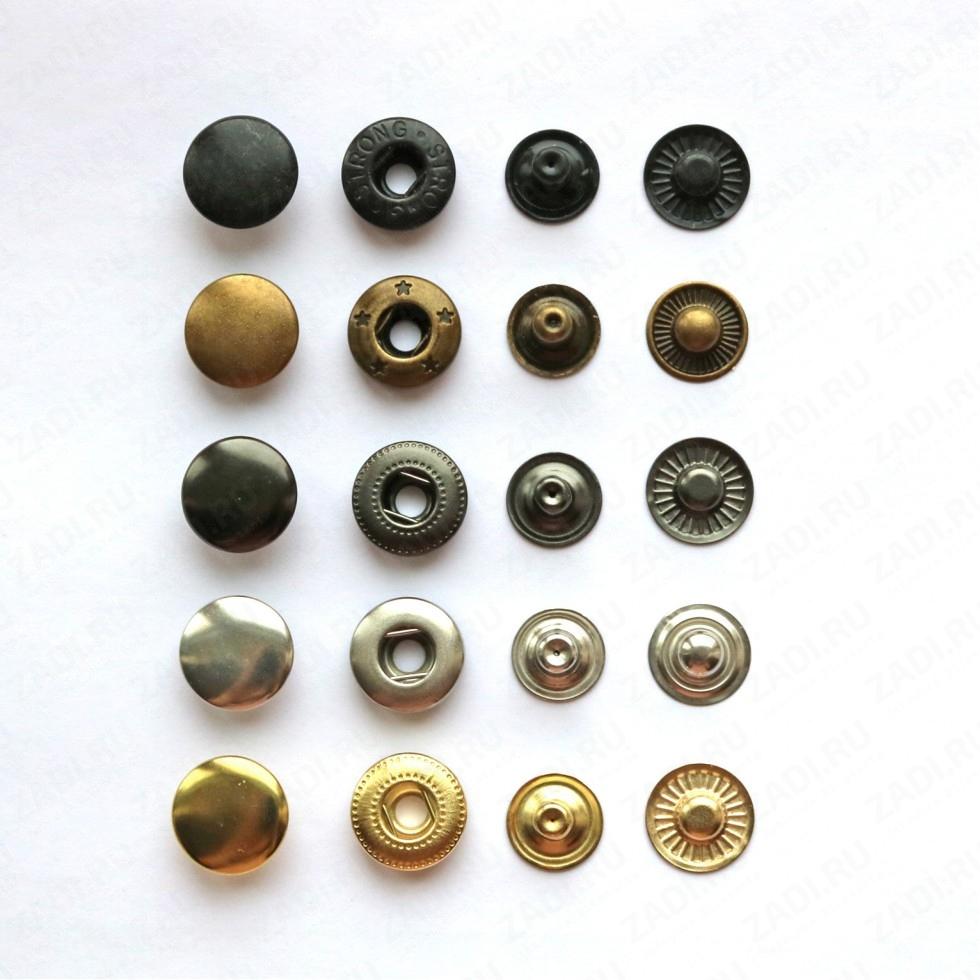 Кнопка латунная Alfa  15мм 1шт арт.VT 203