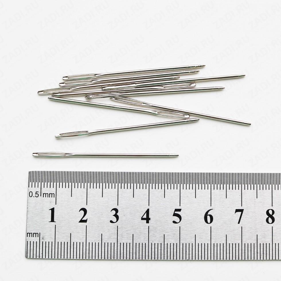 Игла с большим ушком и тупым концом  (48мм х 1.3мм)  1 шт IG253