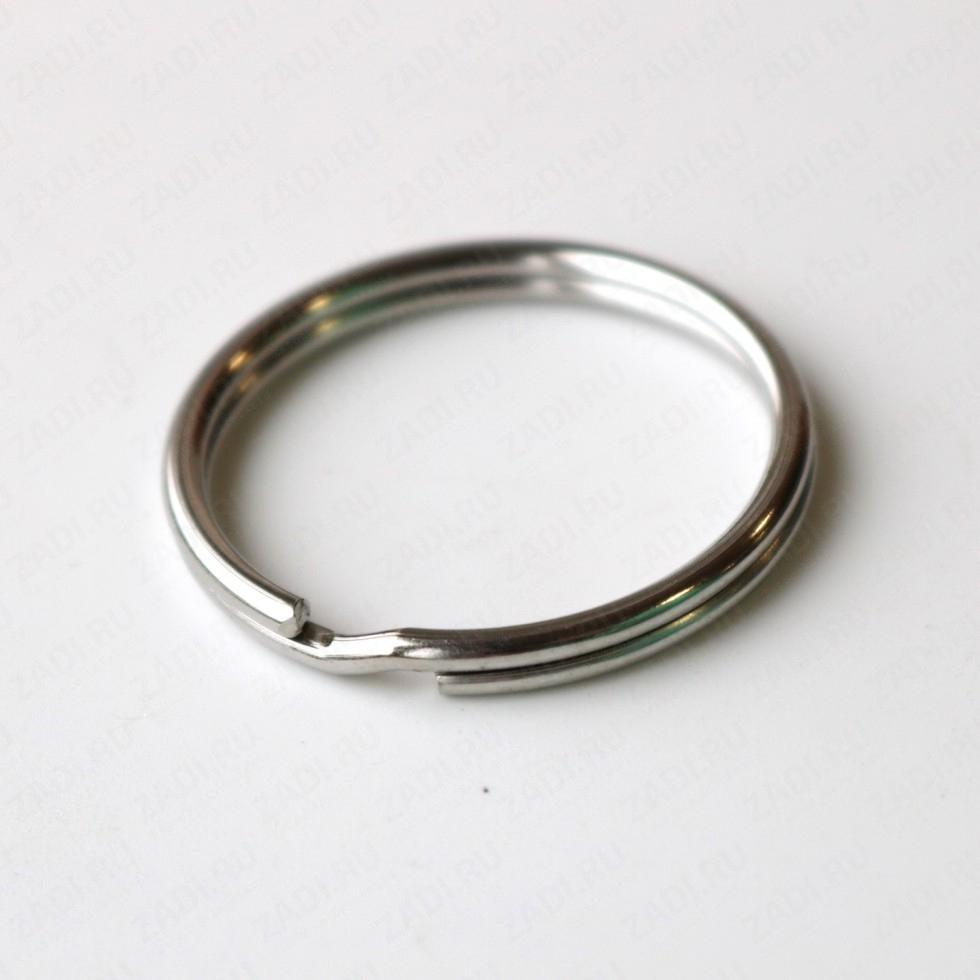 Кольцо для ключей плоское (никель) 32мм арт. 2643