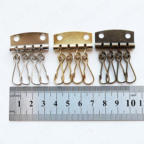 Фурнитура для ключниц (никель,латунь,антик) на 4 пр.FUR1221