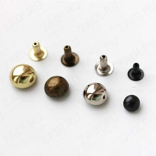 Хольнитены выпуклые ( никель, оксид, золото, антик) 10 шт