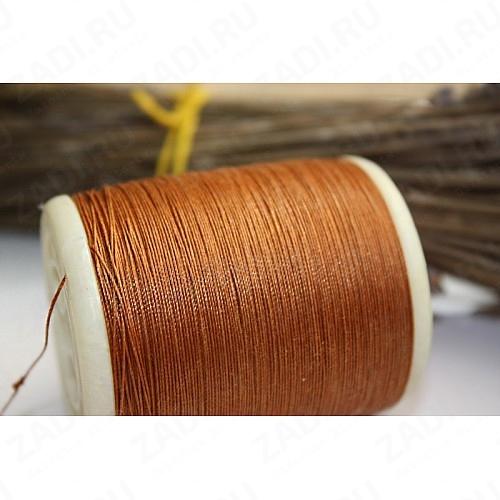 Нить котон/полиэстер  200м (коричневый) 0,5мм NIP807