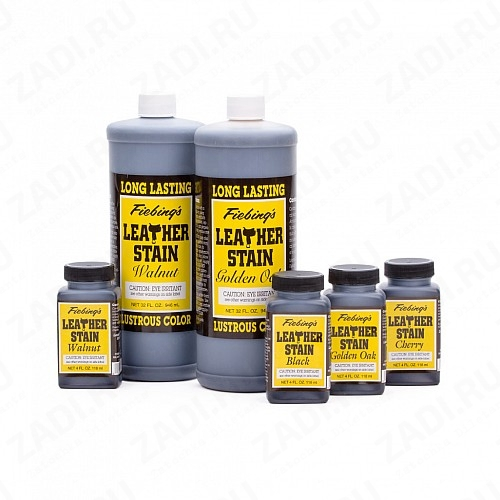 LONG LASTING  Leather Stain (Walnut, Cherry, Golden oak, Black )  118мл.