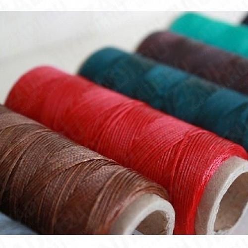 Нить плетёная-вощёная в ассортименте 100м. 0,8мм