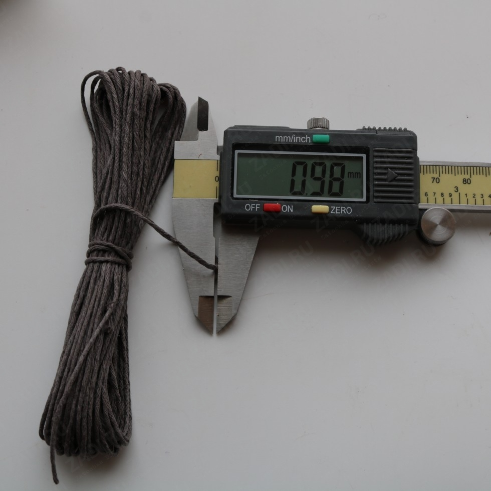 Набор ниток льняных 10 цветов (намотка 9м) 0.5мм и 1мм арт. XQ440