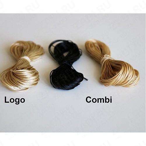 Нитки Combi и Logo (цвет: черный и бежевый) Италия 0,6мм