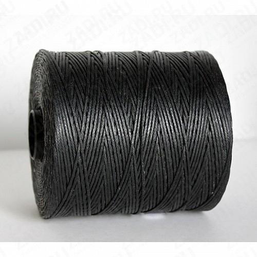 Нить плетёная-вощёная  1мм  (цвет -005 черный) SALEM  арт. SAL 005(1)