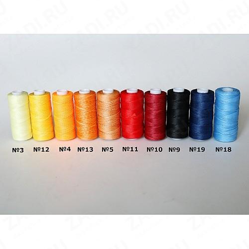 Нить плетёная-вощёная в ассортименте 50м. 0,8мм