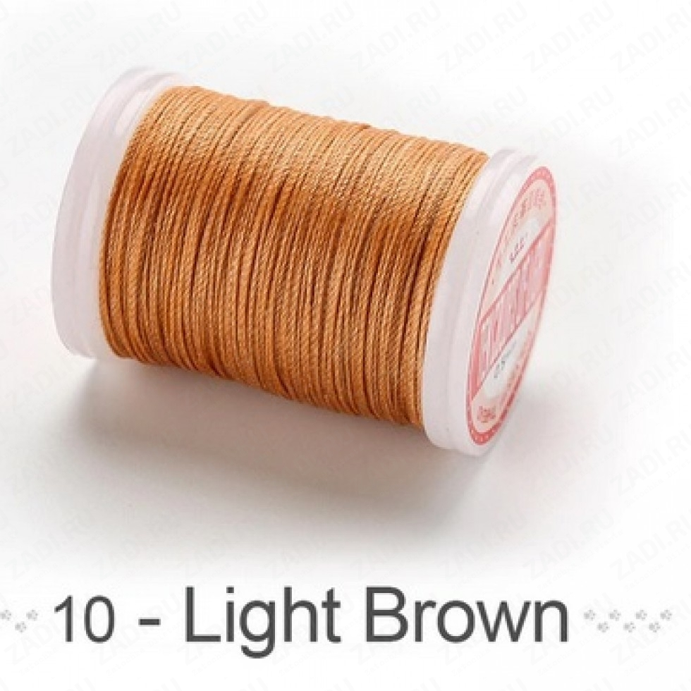 """Нить кручёная круглая-вощёная """" Ten colors of light"""" 120м. 0,5мм"""
