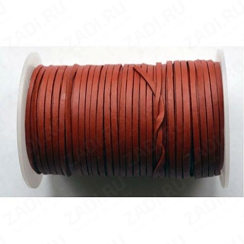 Лента кожаная МАТОВАЯ 1х3мм (тёмно-красная) L25