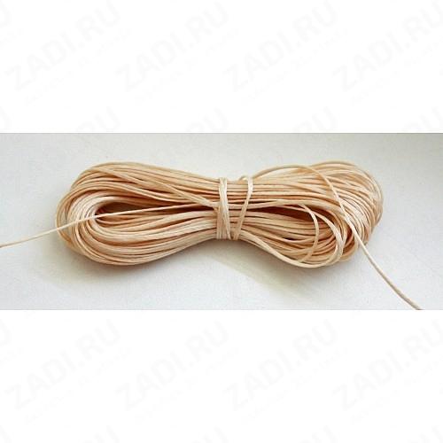 Нить плетенная (вощеная) бежевая NIP1 0,8мм  10м