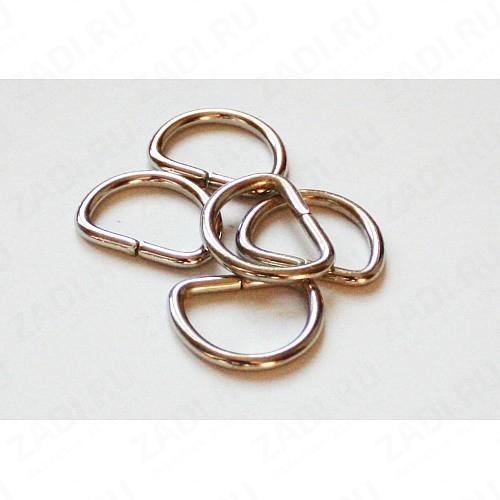 Полукольцо сварное 20х15мм 3мм (никель) 1шт. арт.РГ0301Z