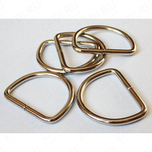 Полукольцо сварное  36х30мм 5мм (никель) 1шт. арт.Р-06-05в