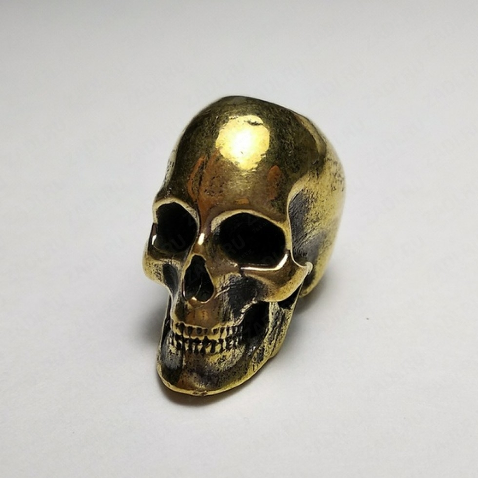"""Бусина """"Гладкий череп"""", латунь. арт В06"""
