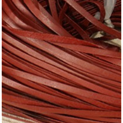 Лента кожаная 1,2х3мм МАТОВАЯ (красно-коричневый) L79