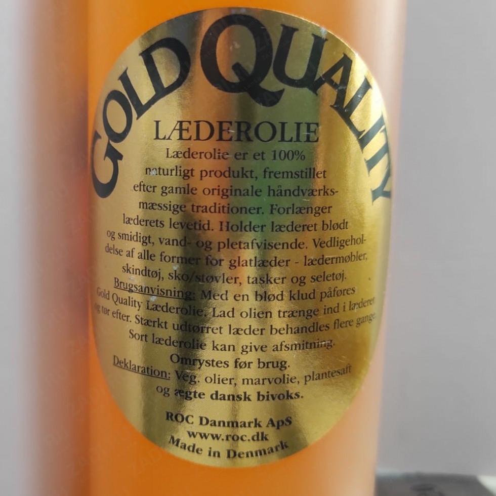 Gold Quality Leather Oil -Смесь масел для кожи (100мл и 250мл)
