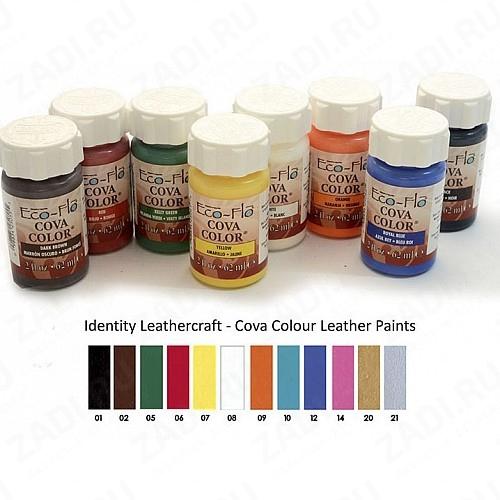 Краски акриловые для кожи Eco-Flo Cova Color 2 oz