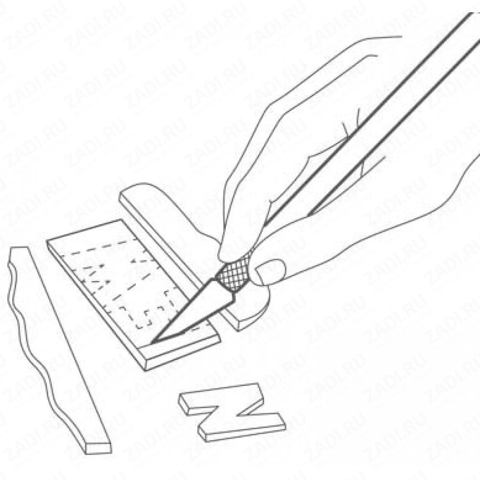 Набор ножей и лезвий  для художественных работ арт. NS1287/13