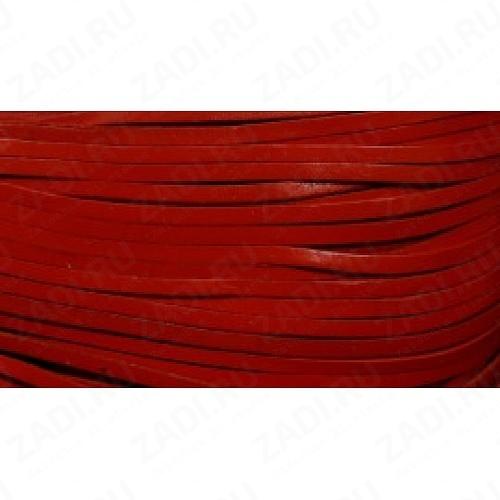 Лента кожаная 1х3мм (красный) L96