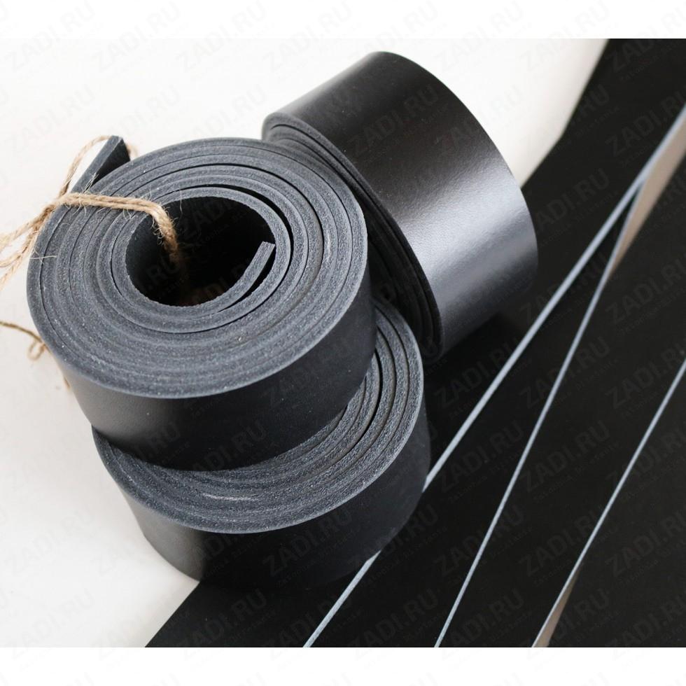 Заготовка для ремня +ТРЕНЧИК , кожа раст. дуб.(цвет:чёрный) 3,6-4мм  арт.652 Сорт А