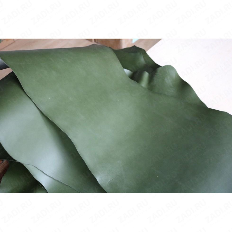 Кожа - Пола телячья (зелёный) Италия 1,5-1,7мм