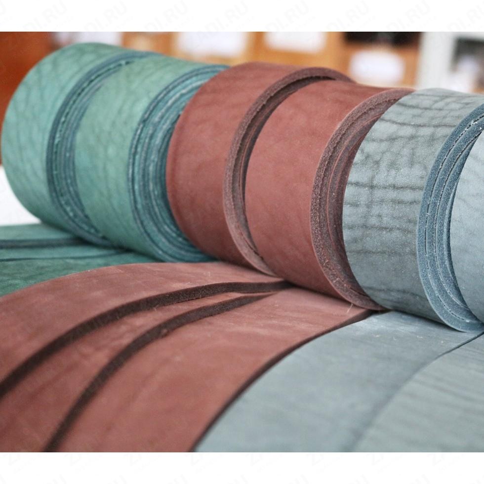 Заготовка для ремня (цвета:зелёный;коричневый;серый) 4-4,6мм арт. 0217 УЦЕНКА
