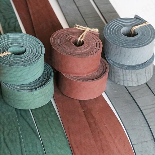 Заготовка для ремня (цвета:зелёный; коричневый; серый) 4-4,6мм арт. 0217 УЦЕНКА