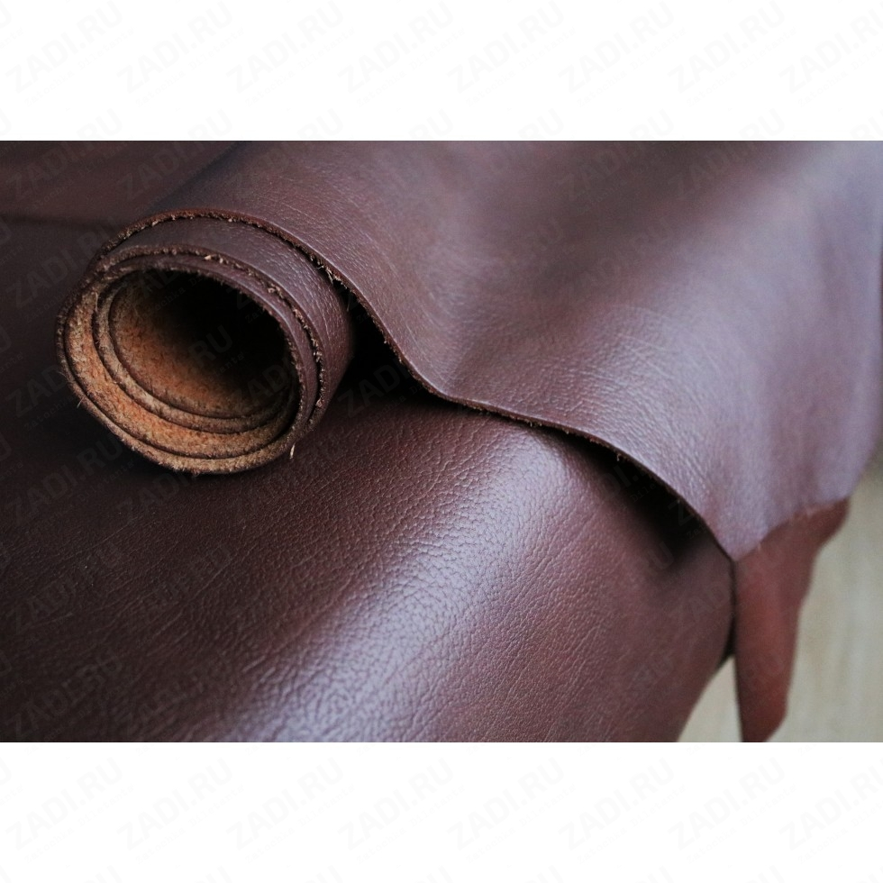 Кожа (тёмно-коричневый) 1,3-1,5мм Италия арт.004