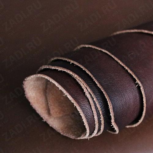 Кожа (тёмно коричневый) 1,3-1,5мм Италия арт.004