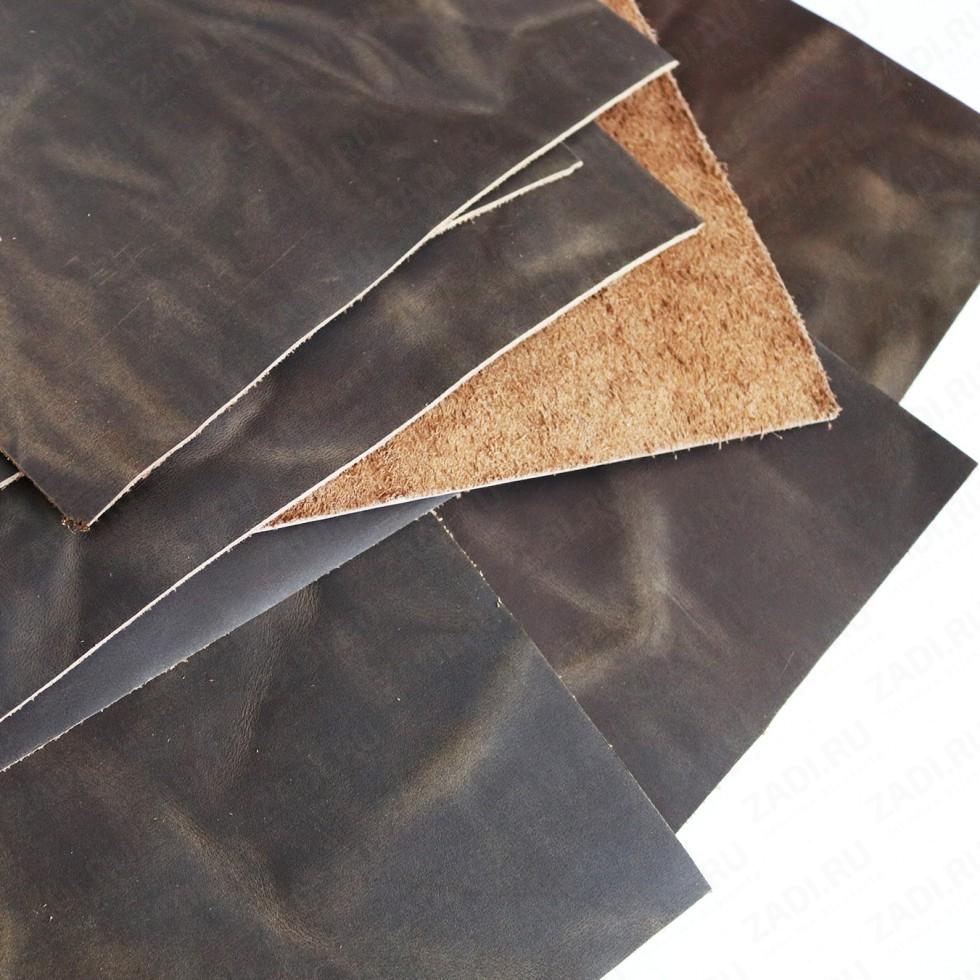 Крейзи Хорс 1,3-1,5мм (цвет: тёмно-коричневый) Мат. арт 418