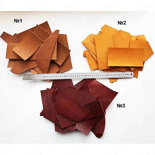 Наборы обрезков кожи Юфть 2-2,2мм арт.129