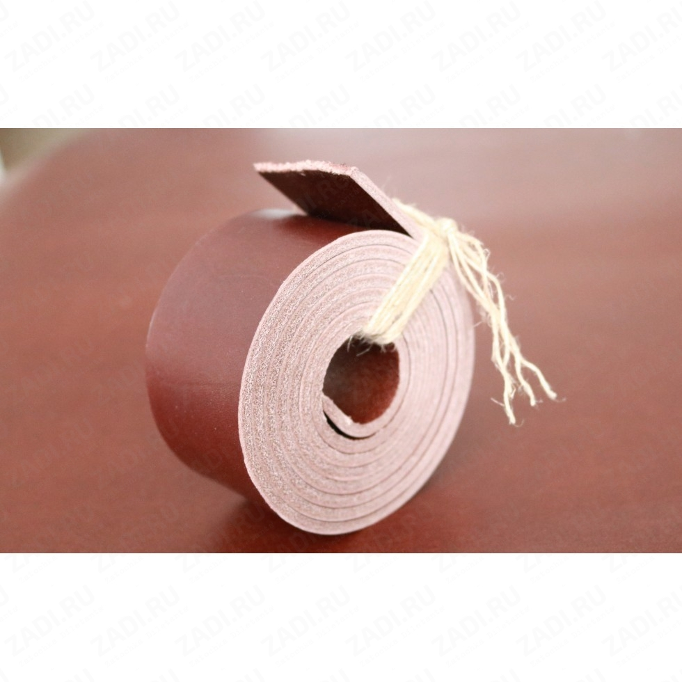 Заготовка для ремня из кожи раст. дубл. ИТАЛИЯ  3,3-3,5мм ширина 38мм  R7894