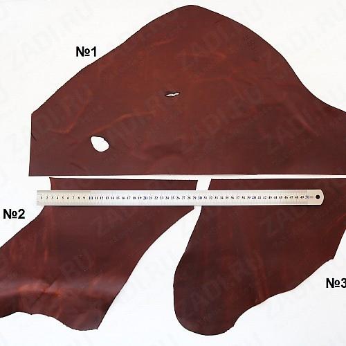 Куски кожи Крейзи Хорс 1,4-1,6мм  (красно-коричневый) МАТОВЫЙ