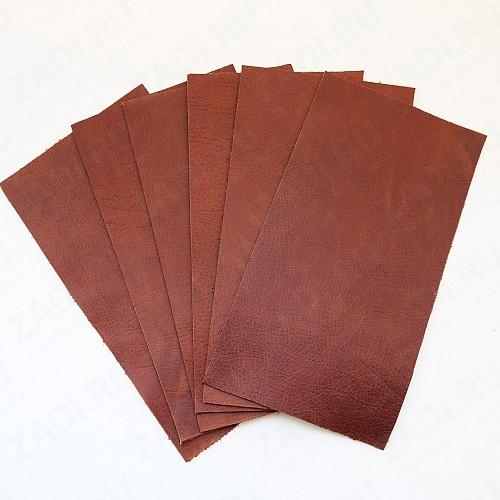 Куски кожи Пулл ап (св.коричневый)  25х13см арт.132