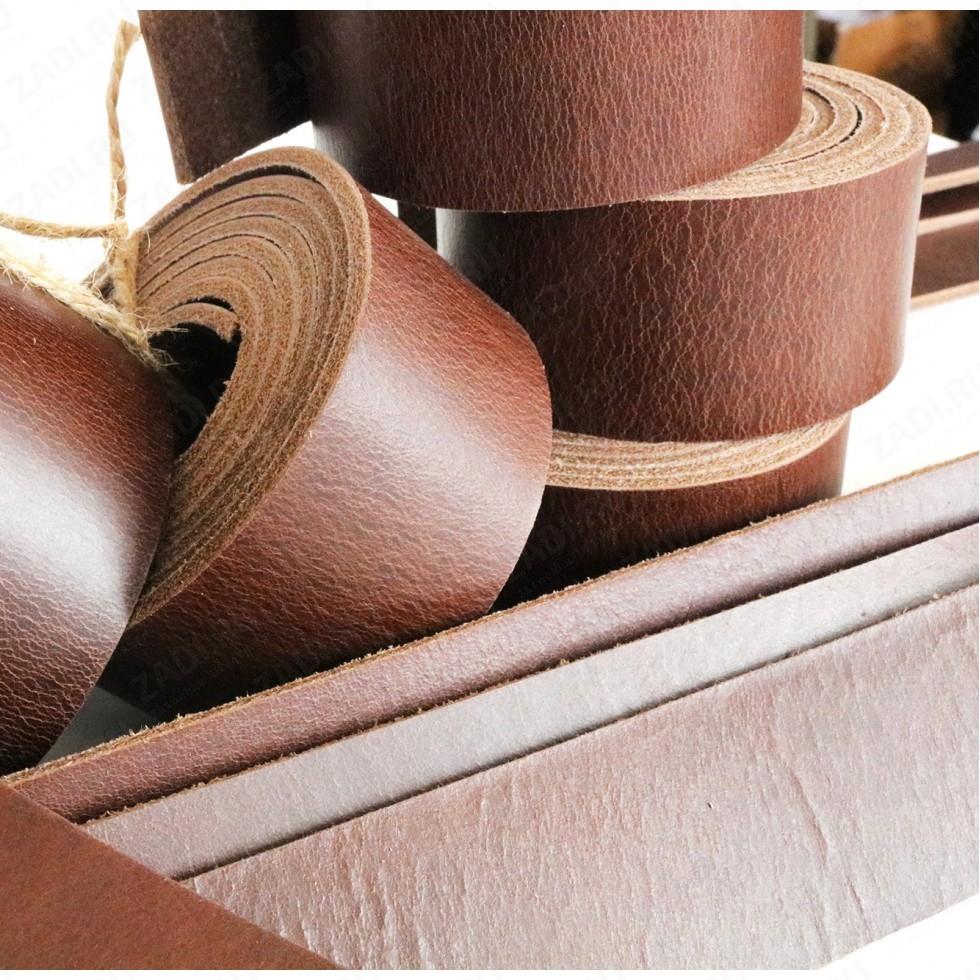 Заготовка для ремня (цвет:шоколад) раст.дубления (Турция)  3,2-3,4мм +ТРЕНЧИК арт.815