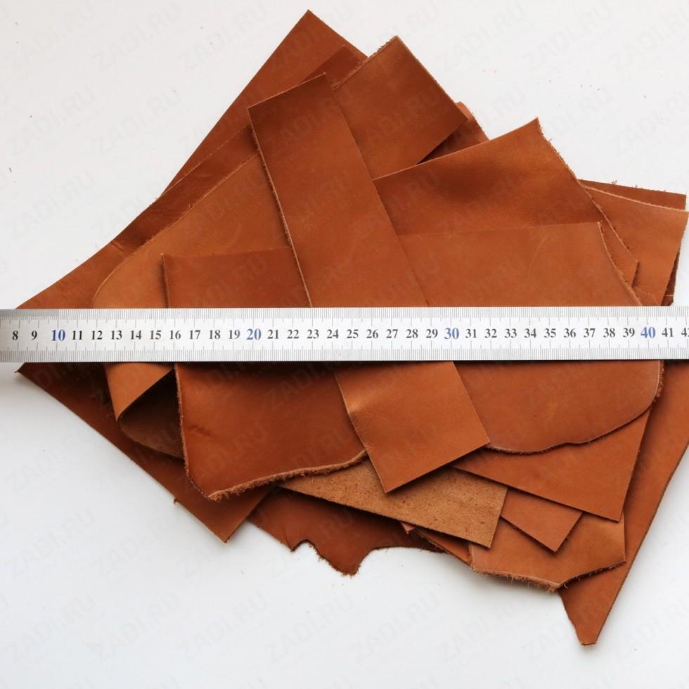 Кожа галантерейная  (Коньяк) 1.3-1.5мм  арт.К463