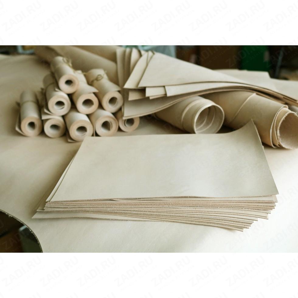 Кожа раст.дуб.ПОЛУКОЖИ (tooling leather) Италия 1-1,2мм 1,4-1,6мм   Сорт А.