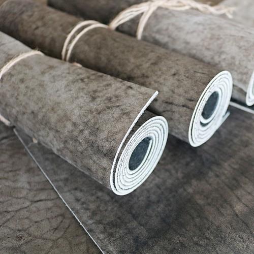 Кожа Юфть (серо-коричневый антик) 2-2,2мм