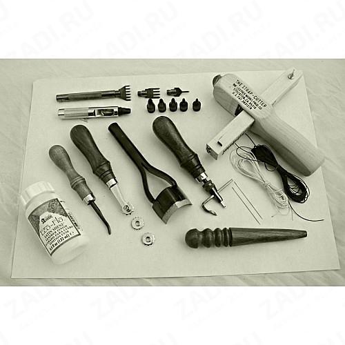 Минимальный набор инструментов для работы с кожей.