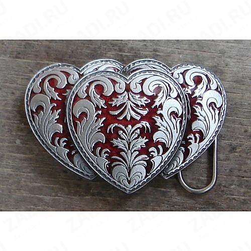 Пряжка (три сердца) BL1