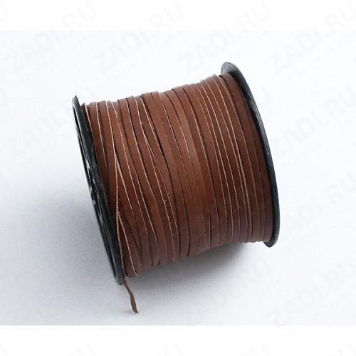Лента кожаная 1х2,5мм (коричневая) L15