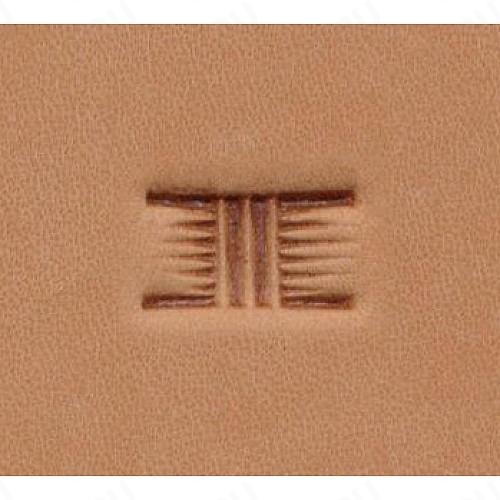 Штамп для кожи арт. X534  12мм x 7мм