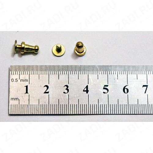 """Заклёпка резьбовая, кобурная """"золото"""" 5мм  1шт. KF204"""